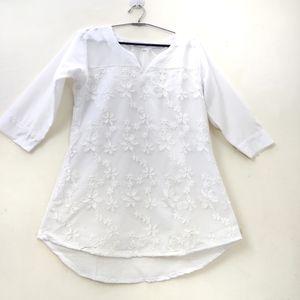 Braand new Beautiful White Kurti 3/4th sleeve